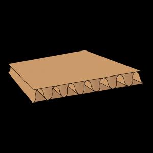 Platen golfkarton (diverse modellen)